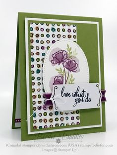 Hello Stampers, Border Buddy Saturday, Patsy here! Love how today's Border Buddy card turned out using products from the Stampin' Up! Gotta Have It All early release bundle. This is one of the cards I created for our May Border...
