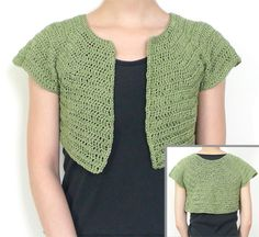 Crochet Short Shrug Pattern | ... Crochet Pattern: Classic Bolero – 9 Sizes - Crochet Patterns