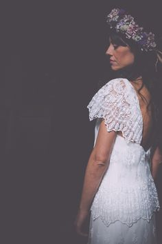 Vestido de novia boho. Bride boho dress. Photo: Melissa Adams