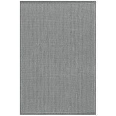 Couristan Recife Saddle Stitch Grey & White Indoor/Outdoor Area Rug | AllModern
