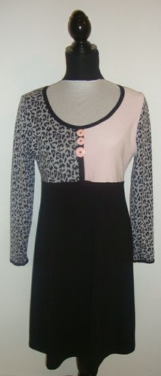 Str L - Damekjole rosa/leopard
