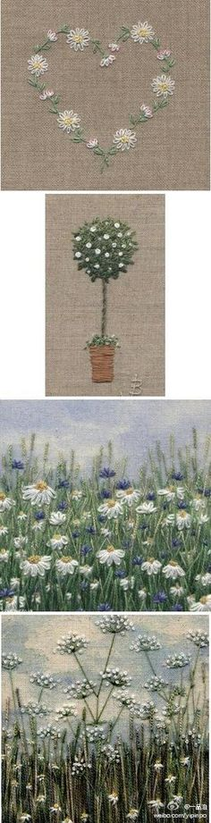 A brief example of some hand embroidery stitches and how to use them ...