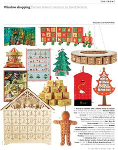 Orchardcards is delighted to be featured in The Saturday Telegraphs 'The Best Advent Calendars' by David Nicholls.