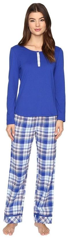 445aecc3847 Jockey pj set with flannel plaid pants at 6pm.com