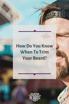 Is it time to trim your beard? There comes a time when your beard is too long, too tangled and too uncomfortable. We're here to help you understand how do your beard grooming the right way. Beard Trimming Styles, Trimming Your Beard, Hair And Beard Styles, Beard Hair Growth, Facial Hair Growth, Hair Growth Tips, Stubble Beard, Best Beard Oil, Shaving Tips