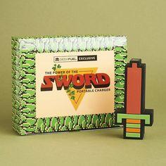 Batterie rechargeable Legend of Zelda épée 8-bits de Link