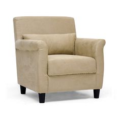 @Overstock.com - Marquis Tan Microfiber Club Chair - A comfortable addition to any sort of decor, this beige microfiber club chair would look stylish in an elegant office, against a hardwood floor, or as extra seating in your living space. It is super soft to the touch and built for long-lasting beauty.  http://www.overstock.com/Home-Garden/Marquis-Tan-Microfiber-Club-Chair/6655290/product.html?CID=214117 $174.99