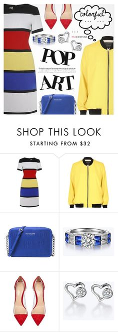 """""""Pop Art"""" by paycustom-fashion ❤ liked on Polyvore featuring River Island, Michael Kors, Gianvito Rossi, polyvoreeditorial, polyvorefashion and polyvoreset"""