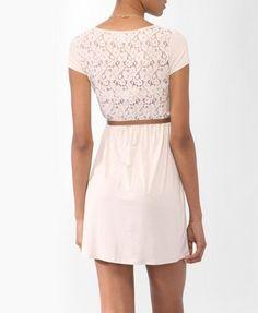 Lace Back Dress w/ Belt | FOREVER21 - 2000045219