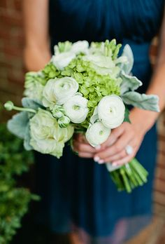 Bouquet with Hydrangeas, Roses, and Ranunculus | Brides.com