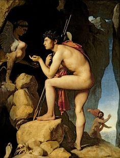 Edipo y la esfinge (1808) Jean Auguste Dominique Ingres