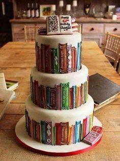 Torte a tema, libreria, cake design Fancy Cakes, Cute Cakes, Pretty Cakes, Beautiful Cakes, Amazing Cakes, Amazing Birthday Cakes, Fabulous Birthday, Beautiful Boys, Cake Cookies
