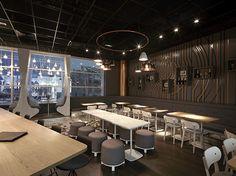 Autogrill restaurant by Creneau Int., Brussels   Belgium restaurant bar