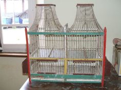 Vintage French bird cage