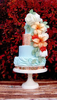 Autumn Hues by Cake Heart - Crabapple Approved Unique Wedding Cakes, Beautiful Wedding Cakes, Gorgeous Cakes, Wedding Cupcakes, Pretty Cakes, Cute Cakes, Amazing Cakes, Unique Cakes, Heart Cakes