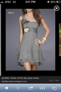 Gray bridesmaid dress @Briana Stephenson