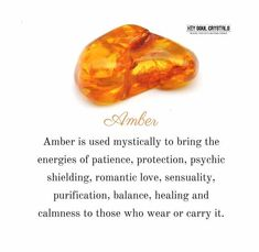 Amber Stone Meaning: Protection and Healing Chakra Crystals, Crystals Minerals, Crystals And Gemstones, Stones And Crystals, Healing Crystals, Gem Stones, Meditation Crystals, Amber Gemstone, Amber Crystal