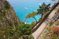 Walking path on the Island of Capri