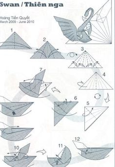 Scheme origami swan 1