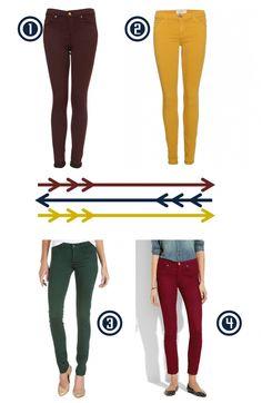 Jewel-Colored Jeans