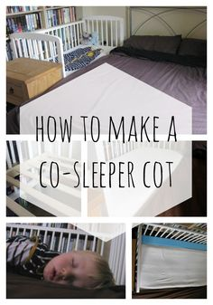 How to sidecar a normal cot, transforming it into a co-sleeper cot. Safe co-sleeping and more sleep all round, win-win!