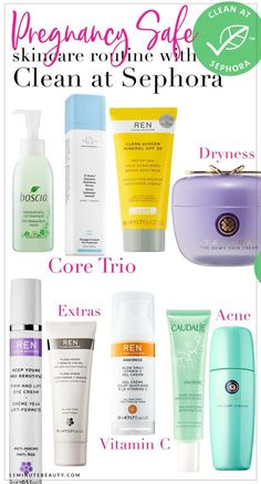 Pregnancy Skincare Routine: Clean at Sephora Products Clean at Sephora, a complete pregnancy safe skincare routine! Pregnancy Skincare Routine: Clean at Sephora Products Sephora, The Body Shop, Diy Skin Care, Skin Care Tips, Skin Tips, Hair Removal, 10 Step Korean Skin Care, Skin Care Routine For 20s, Skincare Routine