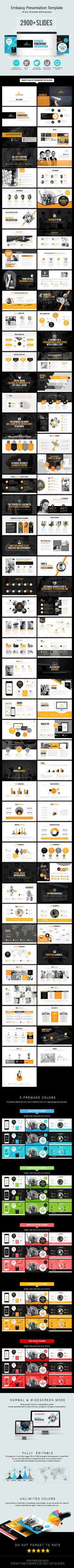 Embassy Powerpoint Presentation - Business Powerpoint Templates