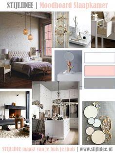 slaapkamer en badkamer inspiratie moodboards