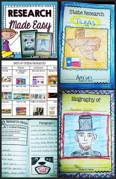 Research projects MADE EASY!  Booklets, tools, and resources for guiding students through research projects.  Great for Science, Social Studies, biographies, animal reports, state reports, and more!