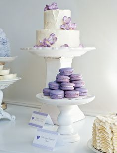 "Could do ""Sweet Baby"" theme and have all sweets... Purple & White"