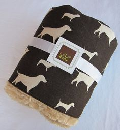 Doggie baby blanket, $40 on Etsy