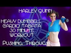 Harley Quinn Heavy Dumbbell Cardio Tabata 30 Minute Workout PT - YouTube