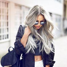 Grey Hairstyles Ideas #longhairstyles #blondehairstyles #bobhairstyles #colourfulhairstyles #casualhairstyles