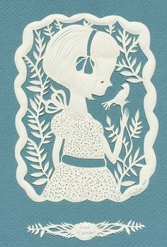 """Good Morning"" - The Heart of Papercuts has a blog dedicated to the art of papercutting."