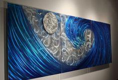 Wilmos Kovacs Original Art Metal Wall Sculpture Ocean Decor Painting