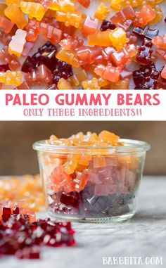 If you need an easy paleo dessert, look no further! Check out this paleo gummy bear recipe with only three ingredients. If you need an easy paleo dessert, look no further! Check out this paleo gummy bear recipe with only three ingredients. Paleo Fruit, Paleo Sweets, Paleo Food, Easy Paleo Desserts, Superfood, Paleo Recipes, Dessert Recipes, Paleo Meals, Lchf