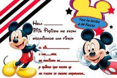 Resultado de imagen para invitaciones de la casa de mickey mouse