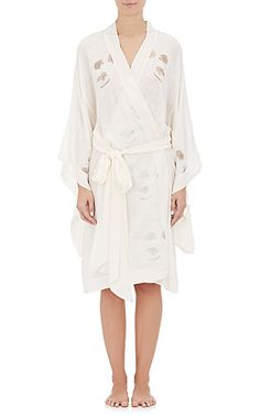 Carine Gilson Lace-Embroidered Robe