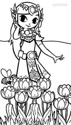 Printable Zelda Coloring Pages  For the Home  Pinterest