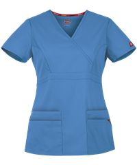 Dickies Eds Signature Scrubs Contemporary Fit Mock Wrap Top - XXS - Ceil Blue Cute Scrubs Uniform, Cute Nursing Scrubs, Scrubs Outfit, Nursing Clothes, Stylish Scrubs, Scrub Jackets, Gentleman, Drawstring Pants, Costume