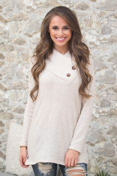 This sweet button sweater is always sure to be there for you!