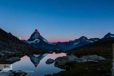 Sunrise on the Matterhorn by andreas-ebling