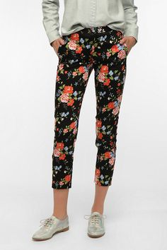 Pins And Needles Floral Print Pant $59.00 @UrbanOutfitters