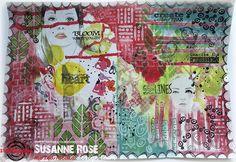 Susanne Rose - Papierkleckse: Art Journal Page