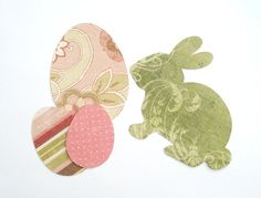 Easter Die Cut Pack Easter Bunny Rabbit Die Cut by AScrappyLife, $2.00