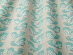 iLiv Scandi Birds aqua fabric
