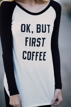 Brandy ♥ Melville | Brooke But First Coffee Top - Graphics