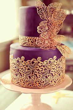 Lace Wedding Cakes | bellethemagazine.com
