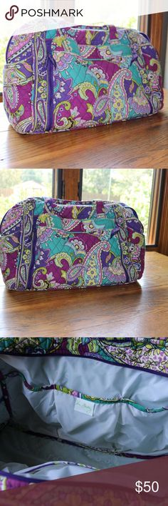 Vera Bradley Diaper Bag Used a Couple Times but in Near Perfect Condition!   One of the handful of times I used it, I got lip gloss on one of the inside pockets. Can't get it off, but it's not noticeable unless looking for it. Vera Bradley Bags Baby Bags