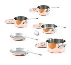 Mauviel Made In France M& Copper Set with Cast Stainless Steel Handle *** New and awesome product awaits you, Read it now : Cookware Sets Cookware Set, Dutch Ovens For Sale, Pots And Pans Sets, Dutch Oven Cooking, Cast Iron Dutch Oven, Copper Kitchen, Pan Set, It Cast, Kitchens